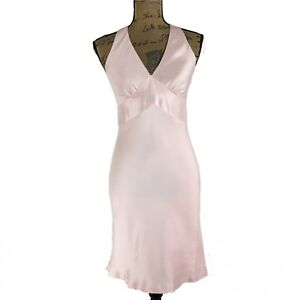 bdb6cca1eccc Details about Ann Taylor 100% Silk Dress 2 P Sm Blush Pink Fit Flare Empire  Lined Party Pretty