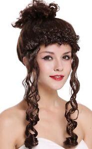 Details Zu Perucke Karneval Damen Barock Viktorianisch Hochsteckfrisur Lockchen Braun