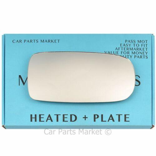 plate Right Driver side Wing door mirror glass for Jaguar XK 96-05 heat