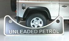 LAND Rover Defender 90 110 2.5 V8 Benzina Senza Piombo Carburante Filler etichetta BADGE 502951