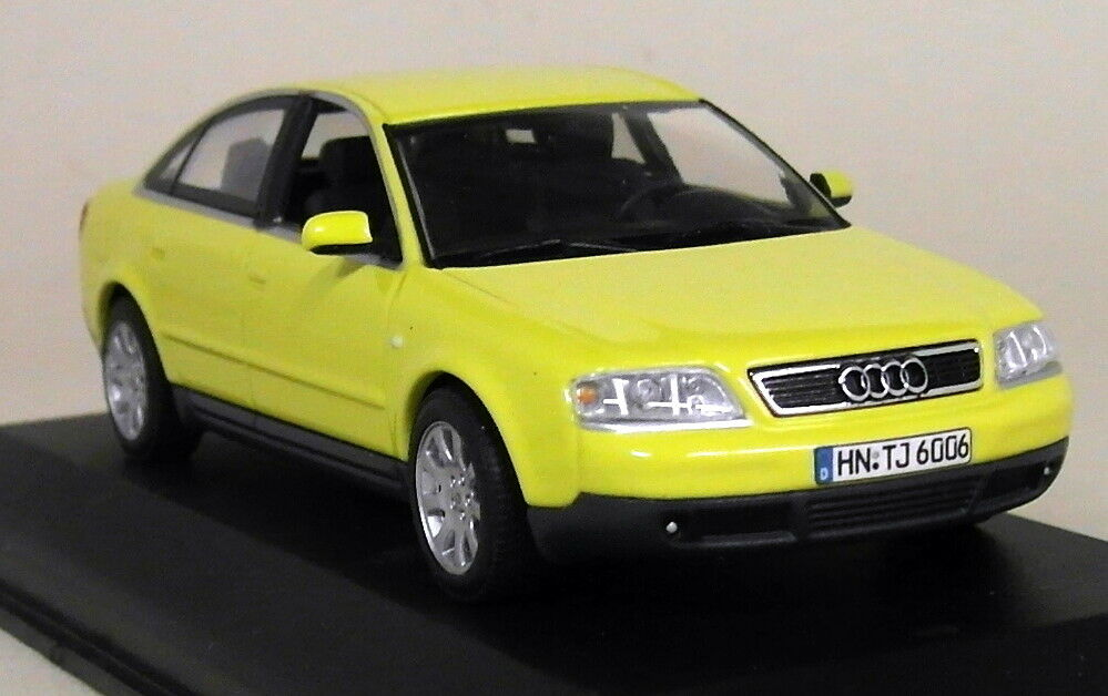 Minichamps 1 43 Scale 13.209.3 Audi A6 C5 Typ 4B Yellow Dealer Diecast Model Car