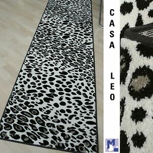 Frise-Qualitaet-Teppich-Laeufer-034-CASA-Afrika-Label-LEOPARD-034-80-cm-breit-NEU
