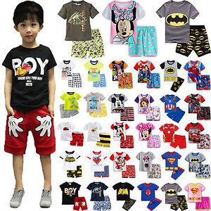 Kids-Baby-Boys-Girls-Short-Sleeve-T-shirt-Shorts-Pants-Summer-Outfit-Clothes-Set