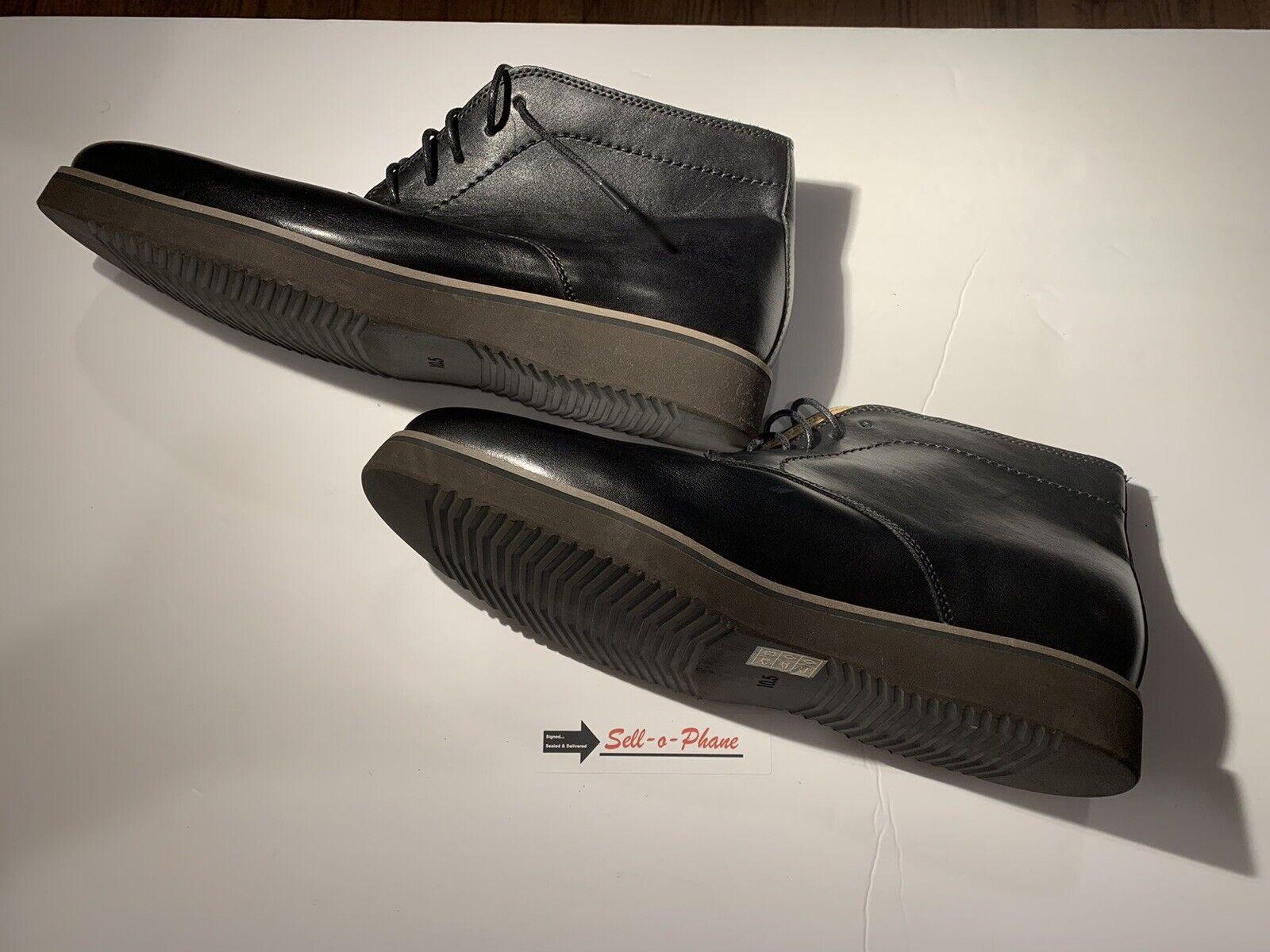 English Laundry Garrick Mens Chukka Boot Black Leather 10.5 M RARE NEW