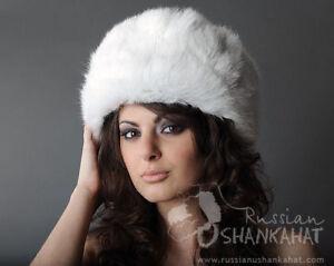 1ab666c3ee8 Image is loading Classic-RUSSIAN-Natural-WHITE-RABBIT-FUR-USHANKA-Winter-