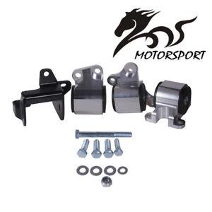 Black Swap Engine Mount Kit for HONDA CIVIC D-Series or B-Series DC2 EK