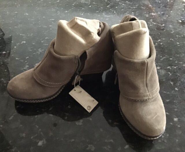 Dr. Scholls Tan Leather Ankle Boots Womens Sz 6.5 Zip Side, Memory Foam Insole