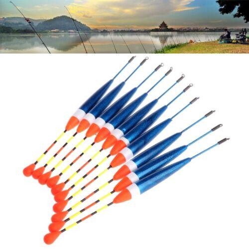 10pcs 0.6g 10# Carp Fishing Floats Set Buoy Bobber Stick Fish Tackle Vertical