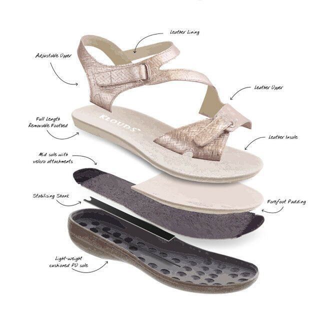 Klouds shoes - - - Orthotic friendly comfort leather stretch Sandals Alyce 769cf6