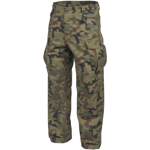 HELIKON SFU NEXT TACTICAL MILITARY TROUSERS MENS ARMY RIPSTOP PANTS PL WOODLAND