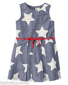 NWT Gymboree Star Spangled Summer Star July 4th Dress 7 8 10 12 Girls