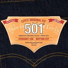 Levis 501 Jeans New Size 33 x 34 INDIGO ( Dark Blue ) Mens Button Fly #507