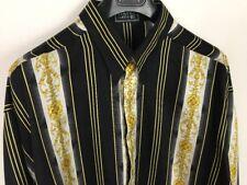 NWT VERSACE JEANS SWEAT shirt Baroque neoprene crewneck black gold XL
