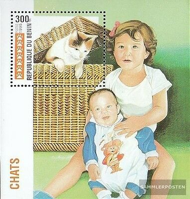 Never Hinged 1995 Cats Can Be Repeatedly Remolded. complete.issue. Unmounted Mint Buy Cheap Benin Block11