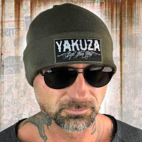 Neue Yakuza Unisex Claim Knit Beanie Mütze Oliv