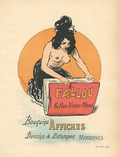 Fallou Bouquins Affiches lithograph poster 1897 by Auguste Roedel