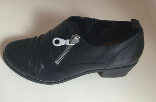 Women Shoes Black 7d Clarks Leather Heels Size Comfort rqrOwU