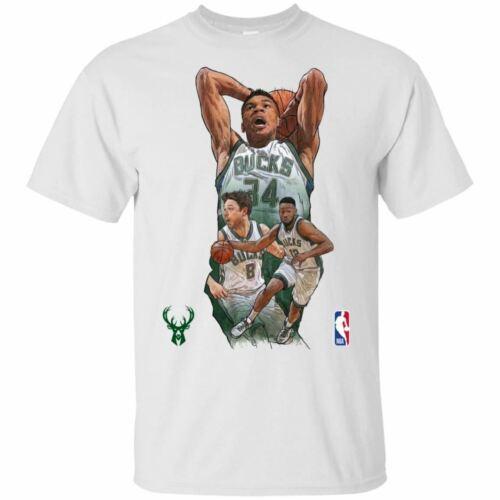 Giannis Antetokounmpo T-Shirt Milwaukee Bucks Tee Shirt Short Sleeve S-5XL