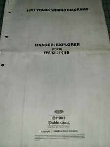 1991 Ford Ranger Explorer Wiring Electrical Diagrams ...