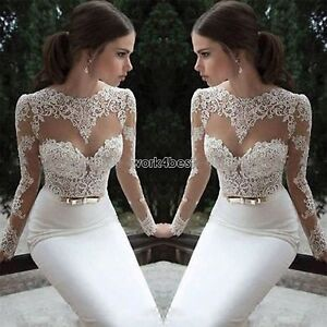 Women-Bridesmaid-Ball-Prom-Gown-Formal-Evening-Party-Cocktail-Long-Lace-Dress