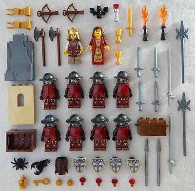 10 NEW LEGO CASTLE KNIGHT MINIFIG LOT Kingdoms figures minifigures people
