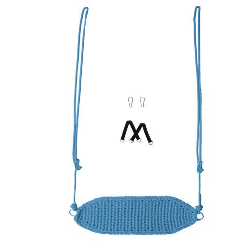 Indoor Outdoor Camping Hanging Rope Swing Seat Chair Garden Activities Toys