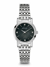 Bulova Women's 96P148 Diamond Quartz Movement Silver Tone Watch