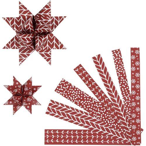 Classique pour plier des étoiles 60 Bandes papier pour Pestalozzi étoiles Blanc//Rouge