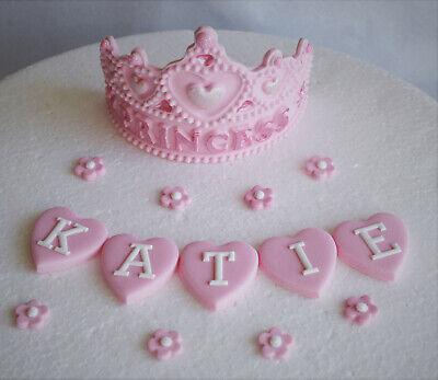 Super Personalized Edible Princess Tiara Birthday Cake Topper Decoration Funny Birthday Cards Online Amentibdeldamsfinfo