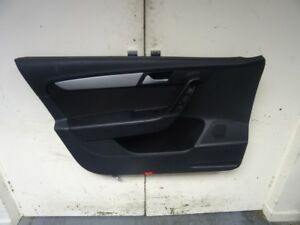 VW Passat B6 NS Left Front Black Cloth Door Card