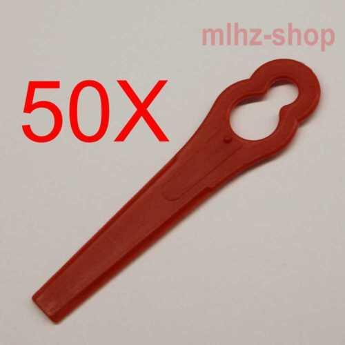 50 Kunststoff-Trimmer Klingen für BOSCH ART26* Einhell GE-* Florabest FRT* CMI C