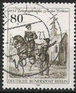 Charitable Berlin Nº 693 150 Ans Télégraphiques Ligne 1983, Estampillé-ie 1983, Gestempeltfr-fr Afficher Le Titre D'origine