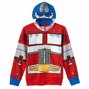 NWT Transformers Bumble Bee Optimus Prime Hooded Sweater Costume Hoodie Jacket