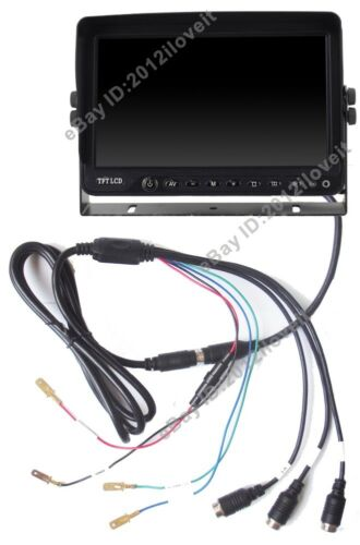 """FORKLIFT 9/"""" REAR VIEW BACKUP SIDE CAMERA SYSTEM CCTV FOR HEAVY TRUCK MOTORHOME"""