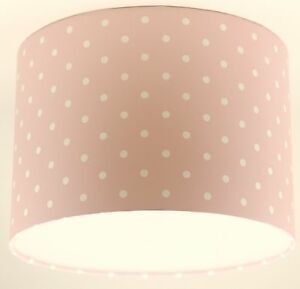 Image Is Loading Lampshade Handmade With Next Pink And White Polka