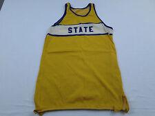 RARE Vtg STATE Basketball Track & Field Cross Country Running Jersey Shirt Sz S