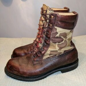 RARE-VINTAGE-RED-WING-IRISH-SETTER-CAMO-HUNTING-WORK-BOOTS-MENS-11-M-CAMOUFLAGE
