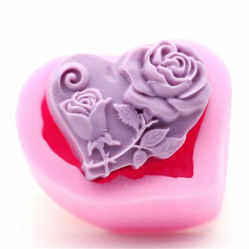 Flower Rose Silicone Fondant Mold Cake Decor Chocolate Sugarcraft Baking Mould
