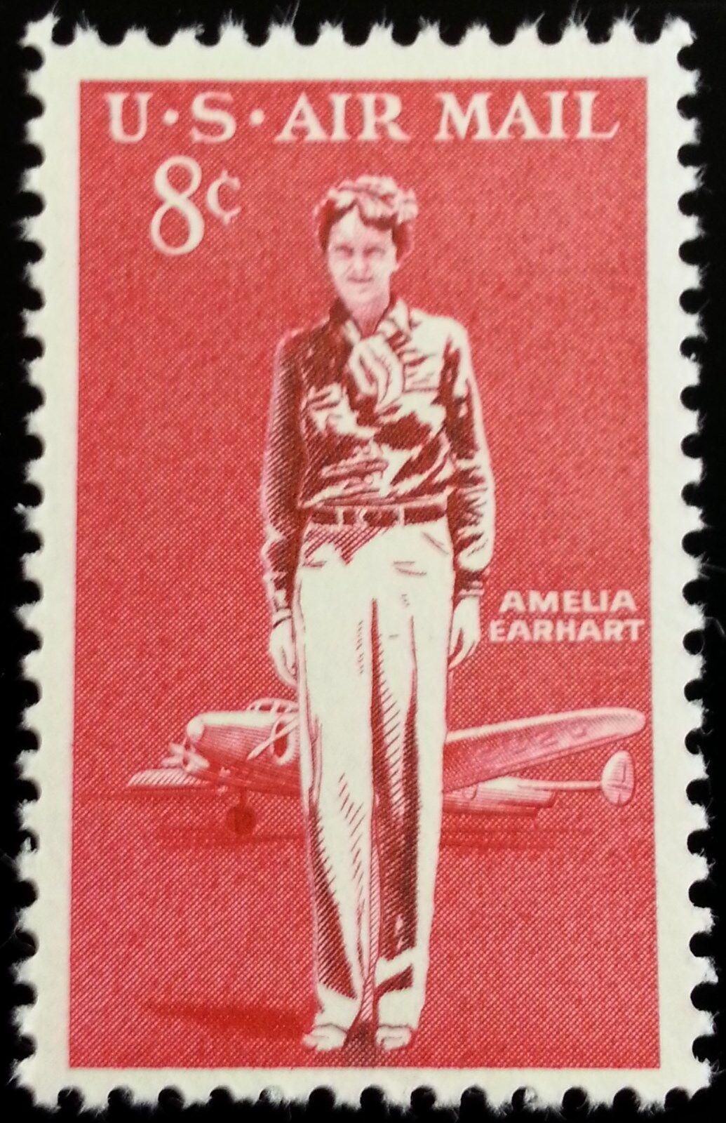 1963 8c Amelia Earhart, American Aviation Pioneer Scott