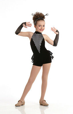 Spider Jazz Tap Dance Ballet Costume Animal Halloween Child XS S Adult Large