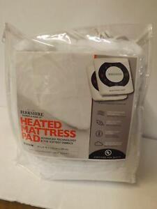 Berkshire Grace Fur Intellisense Heated Mattress Pad Queen