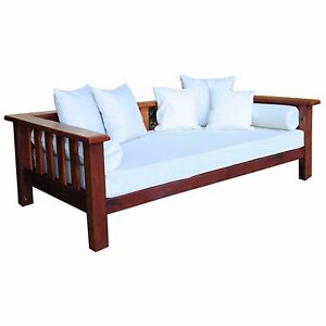 Image is loading Australian-Made-Recycled-Hardwood-Timber-Daybed -includes-mattress- 498c0a8301