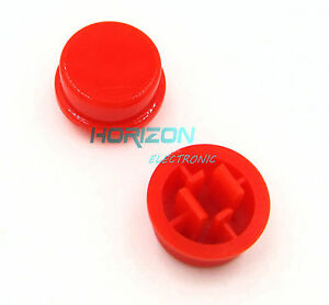 500pcs Red Round Tactile Button Caps For 12×12×7.3mm Tact Switches new
