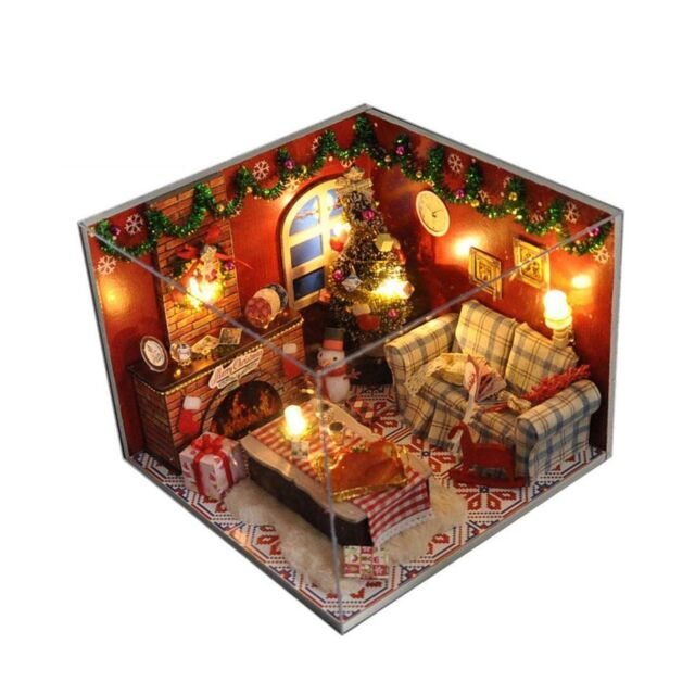 Flever Dollhouse Miniature DIY House Kit Creative Room with Furniture for Roman