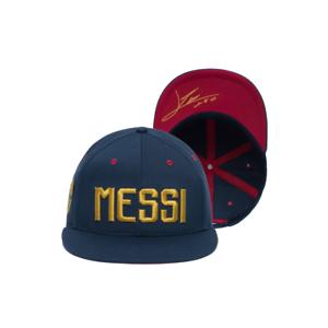 MESSI #10 FC BARCELONA OFFICIALLY LICENSED BASEBALL HAT FLAT PEEK ADJUSTABLE