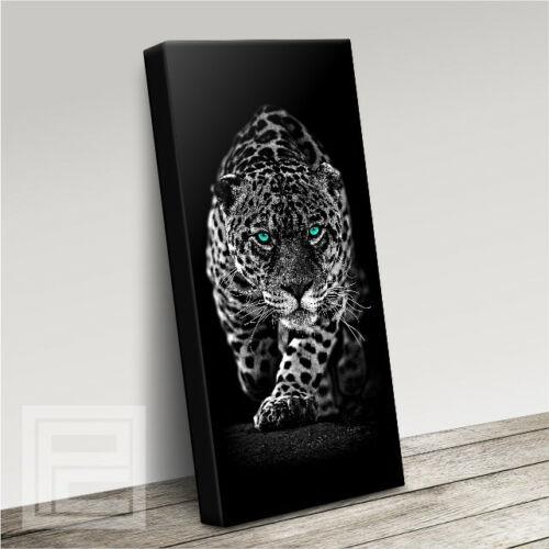 JAGUAR PROWLING IMPRESSIVE MODERN CAT CANVAS ART PRINT PICTURE UPGRADE 120x56cm