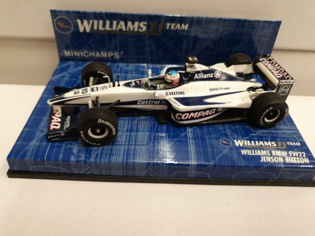 Minichamps Escala 1/43 430 000010 Williams BMW FW22 Jenson Button 2000