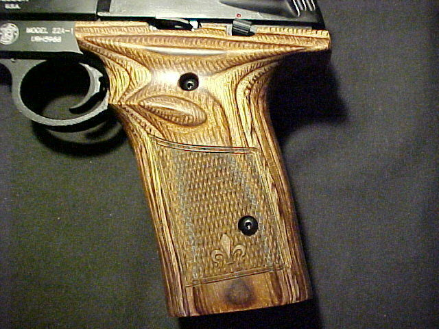Smith Wesson 22A 22S uno - & Pieza S&W a cuadros nogal Pistol Grip recargado Belleza