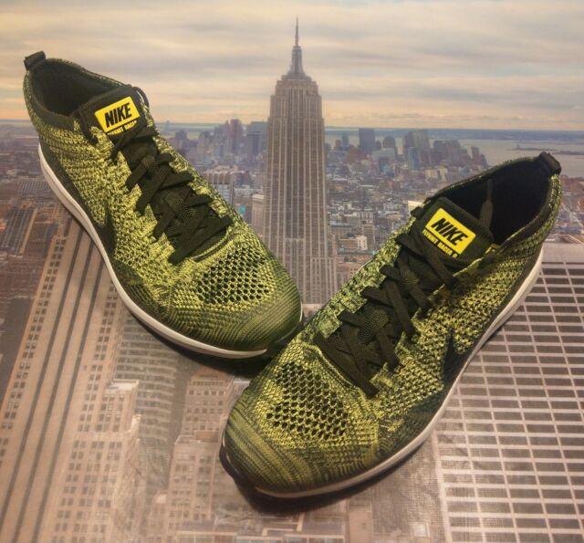 Nike Flyknit Racer G Golf Shoe Volt Black-Sequoia Mens Size 9.5 909756 700 59e56d0b2