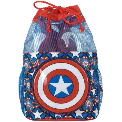 Captain America Swim BagBoys Marvel Swimming BagKids Avengers Backpack